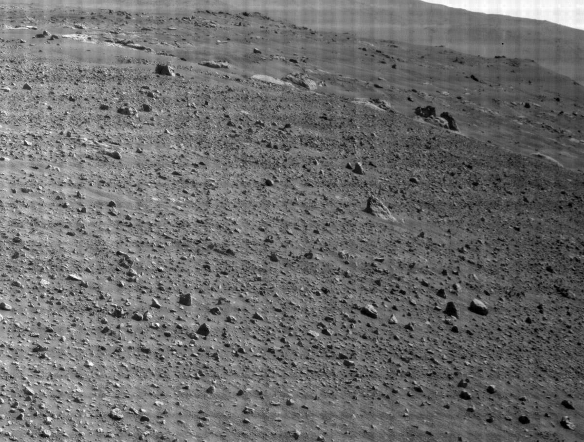 This image was taken by FRONT_HAZCAM_LEFT_A onboard NASA's Mars rover Perseverance on Sol 113