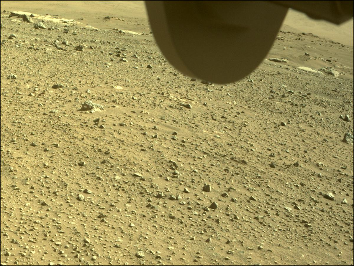This image was taken by FRONT_HAZCAM_RIGHT_A onboard NASA's Mars rover Perseverance on Sol 113