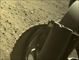View image taken on Mars, Mars Perseverance Sol 113: Front Right Hazard Avoidance Camera (Hazcam)