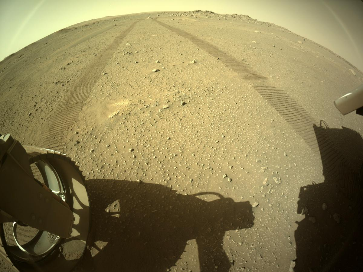 This image was taken by REAR_HAZCAM_LEFT onboard NASA's Mars rover Perseverance on Sol 113