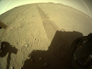 View image taken on Mars, Mars Perseverance Sol 113: Rear Right Hazard Avoidance Camera (Hazcam)