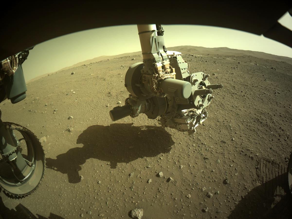This image was taken by FRONT_HAZCAM_LEFT_A onboard NASA's Mars rover Perseverance on Sol 115
