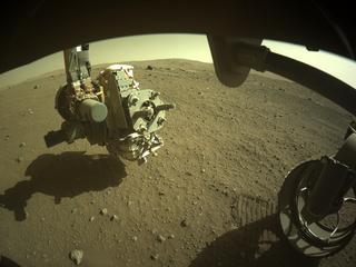 View image taken on Mars, Mars Perseverance Sol 115: Front Right Hazard Avoidance Camera (Hazcam)