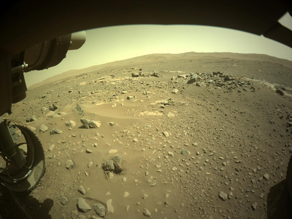 This image was taken by FRONT_HAZCAM_LEFT_A onboard NASA's Mars rover Perseverance on Sol 116