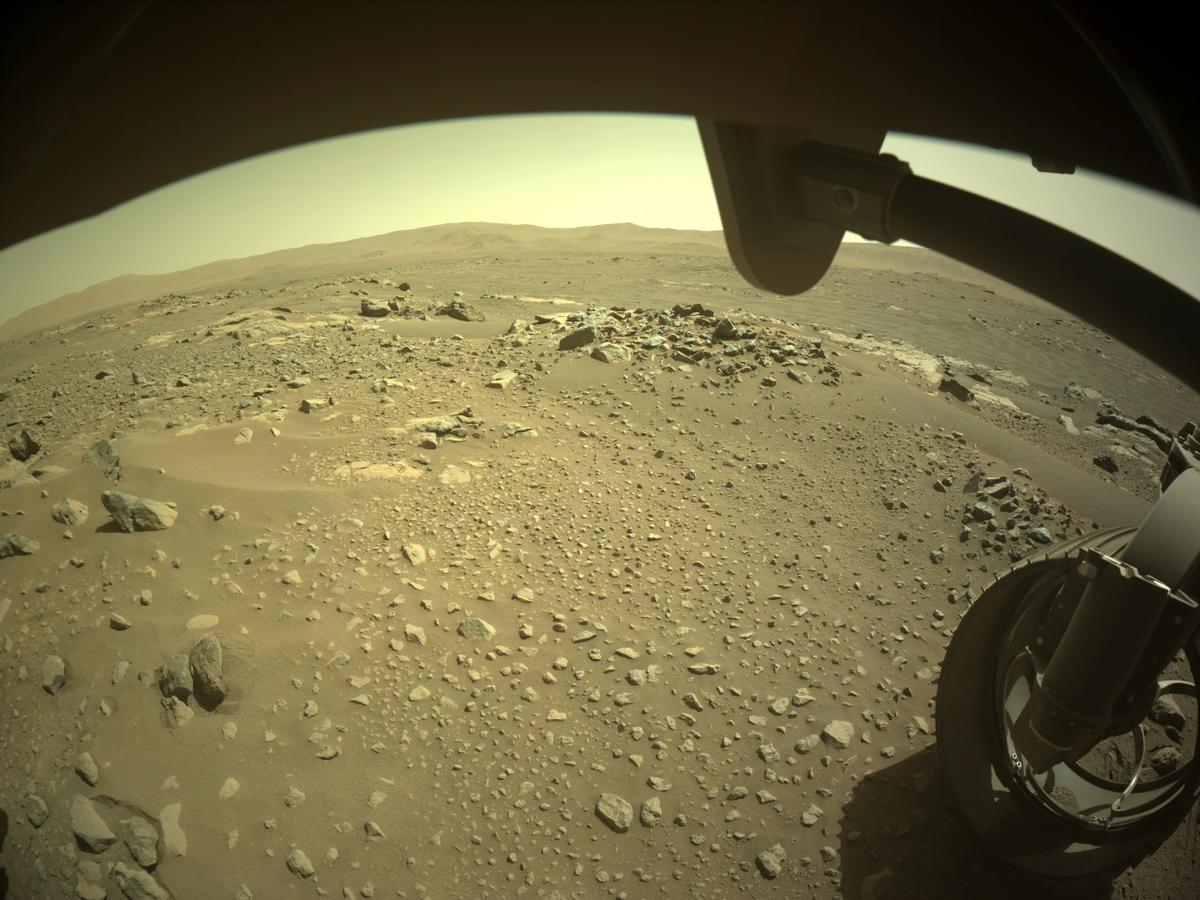 This image was taken by FRONT_HAZCAM_RIGHT_A onboard NASA's Mars rover Perseverance on Sol 116