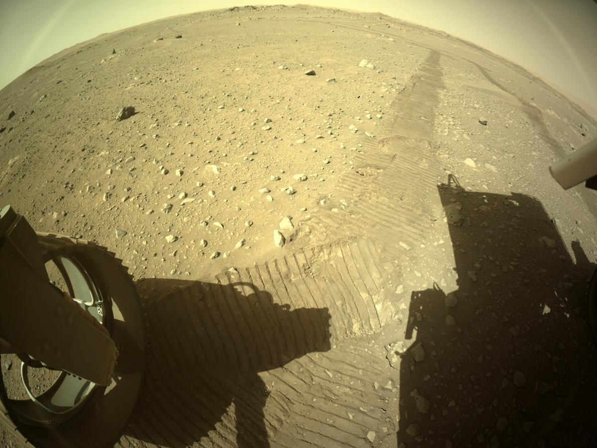 This image was taken by REAR_HAZCAM_LEFT onboard NASA's Mars rover Perseverance on Sol 116