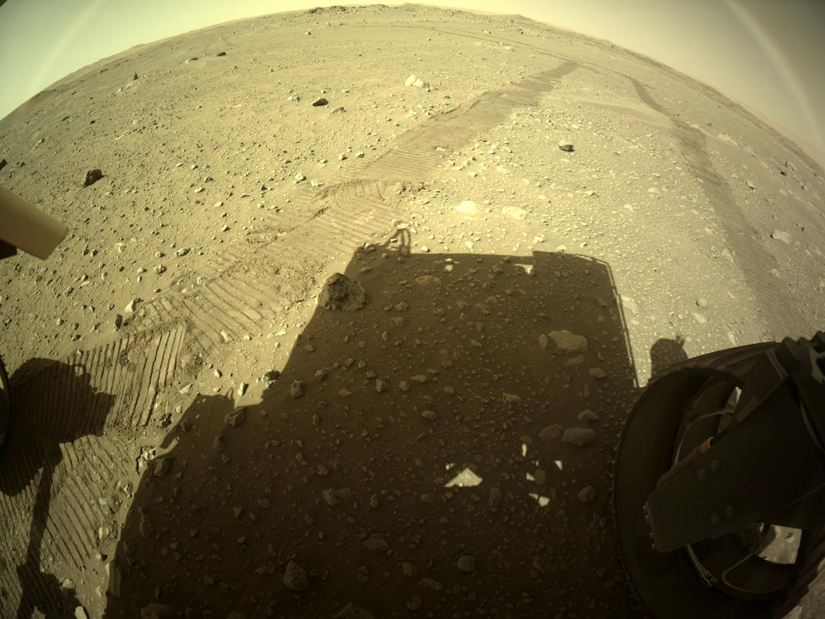 This image was taken by REAR_HAZCAM_RIGHT onboard NASA's Mars rover Perseverance on Sol 116
