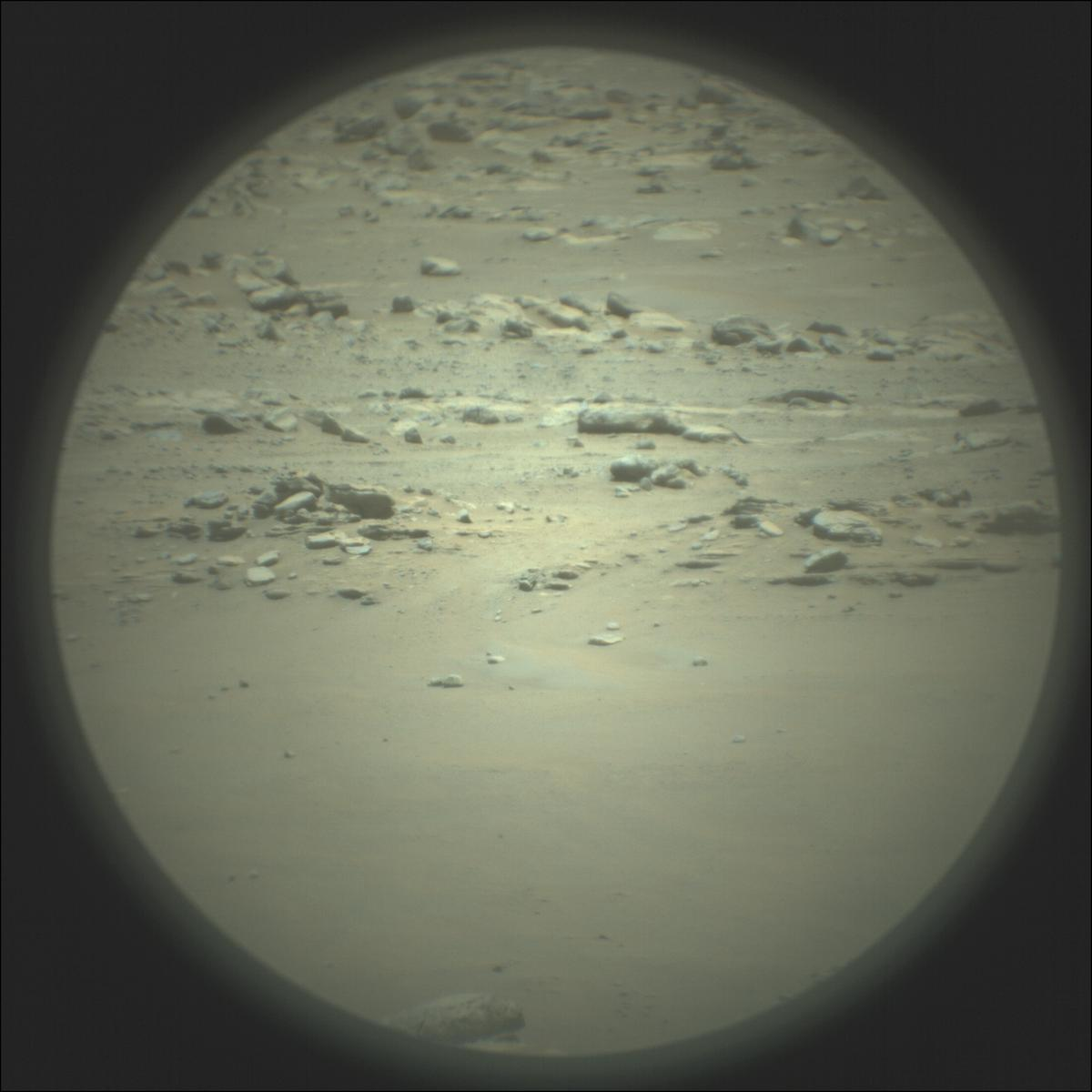 This image was taken by SUPERCAM_RMI onboard NASA's Mars rover Perseverance on Sol 118