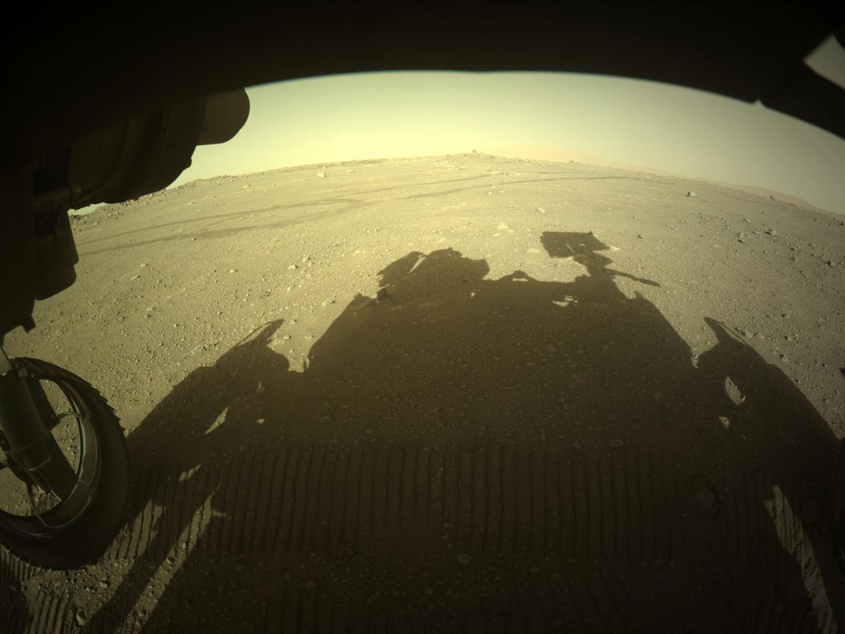 This image was taken by FRONT_HAZCAM_LEFT_A onboard NASA's Mars rover Perseverance on Sol 122