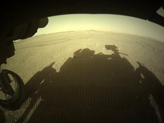 View image taken on Mars, Mars Perseverance Sol 122: Front Left Hazard Avoidance Camera (Hazcam)