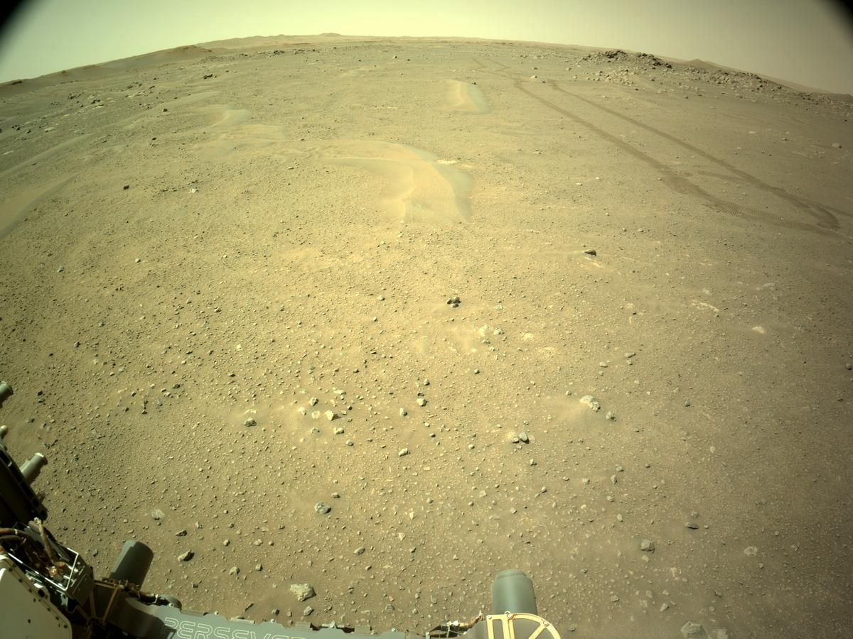 This image was taken by NAVCAM_LEFT onboard NASA's Mars rover Perseverance on Sol 122