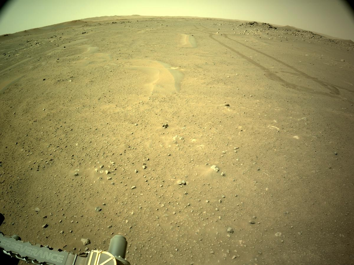 This image was taken by NAVCAM_RIGHT onboard NASA's Mars rover Perseverance on Sol 122