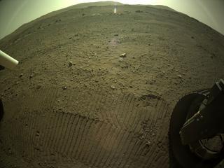 View image taken on Mars, Mars Perseverance Sol 122: Rear Right Hazard Avoidance Camera (Hazcam)