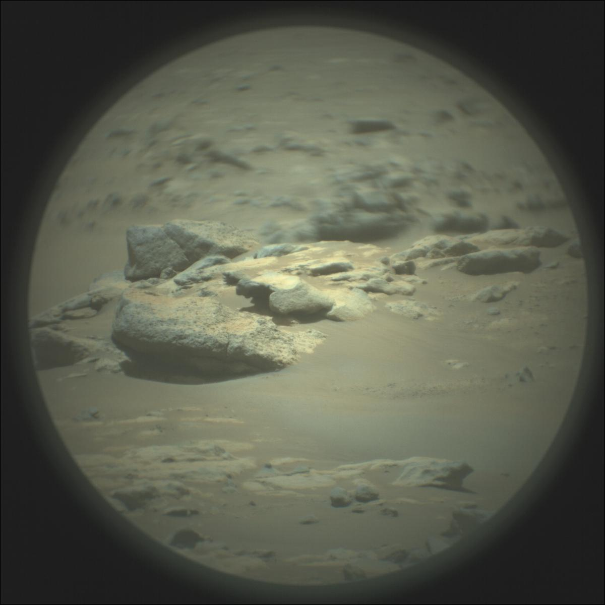This image was taken by SUPERCAM_RMI onboard NASA's Mars rover Perseverance on Sol 122