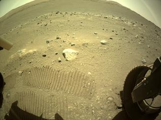 View image taken on Mars, Mars Perseverance Sol 136: Rear Right Hazard Avoidance Camera (Hazcam)