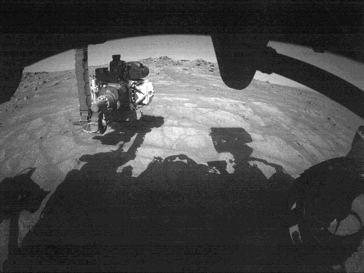 This image was taken by FRONT_HAZCAM_RIGHT_A onboard NASA's Mars rover Perseverance on Sol 144