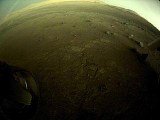 View image taken on Mars, Mars Perseverance Sol 144: Rear Left Hazard Avoidance Camera (Hazcam)