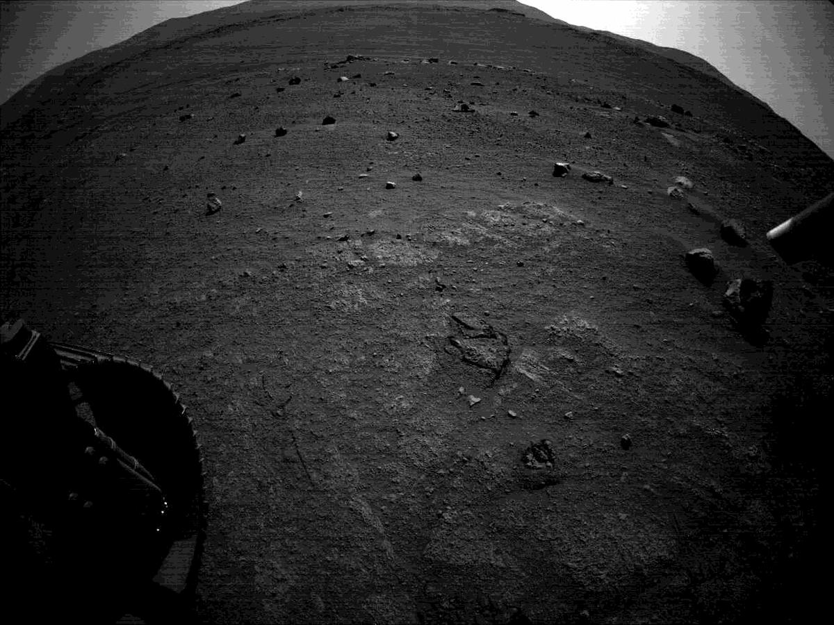 This image was taken by REAR_HAZCAM_LEFT onboard NASA's Mars rover Perseverance on Sol 144