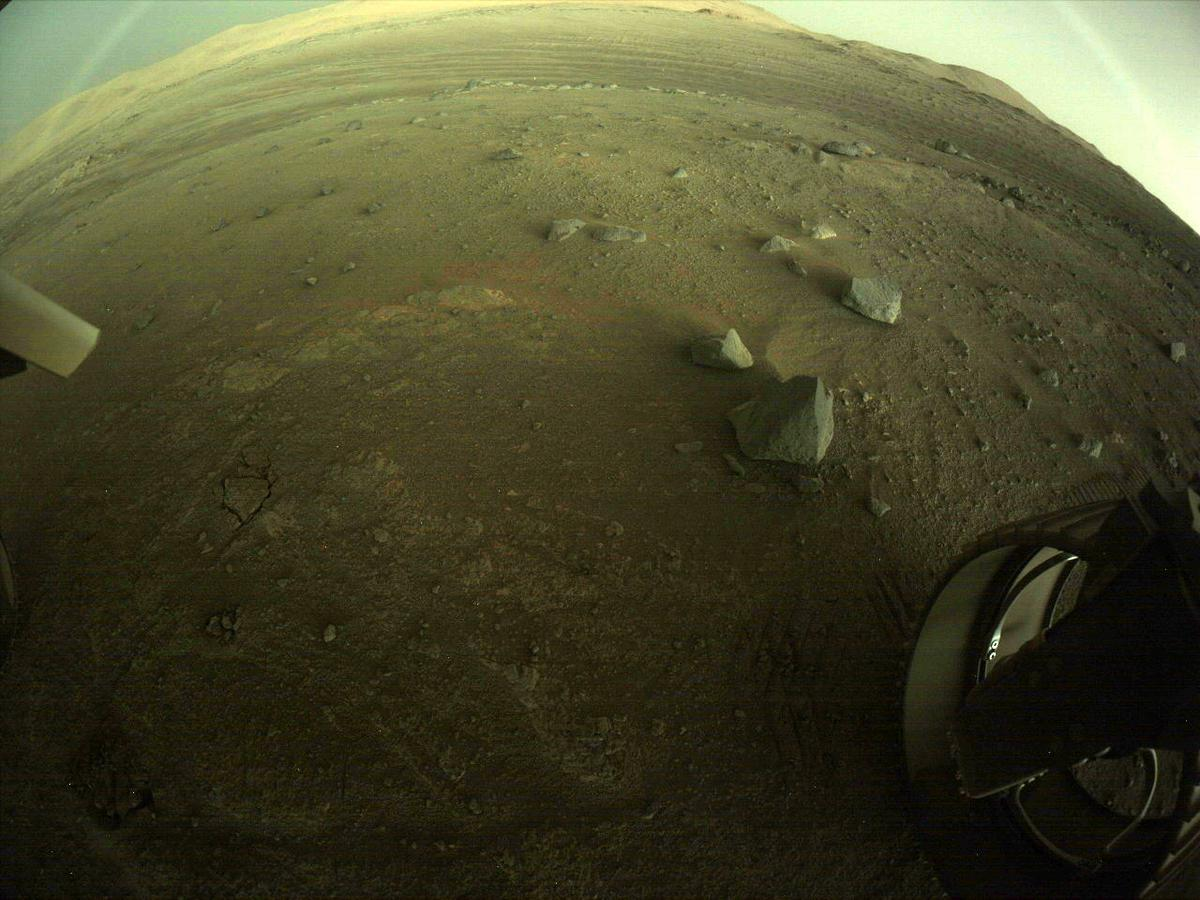 This image was taken by REAR_HAZCAM_RIGHT onboard NASA's Mars rover Perseverance on Sol 144
