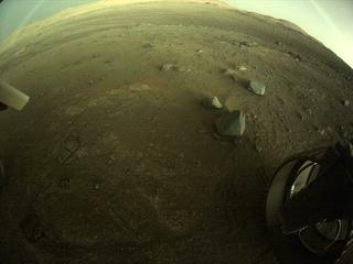View image taken on Mars, Mars Perseverance Sol 144: Rear Right Hazard Avoidance Camera (Hazcam)