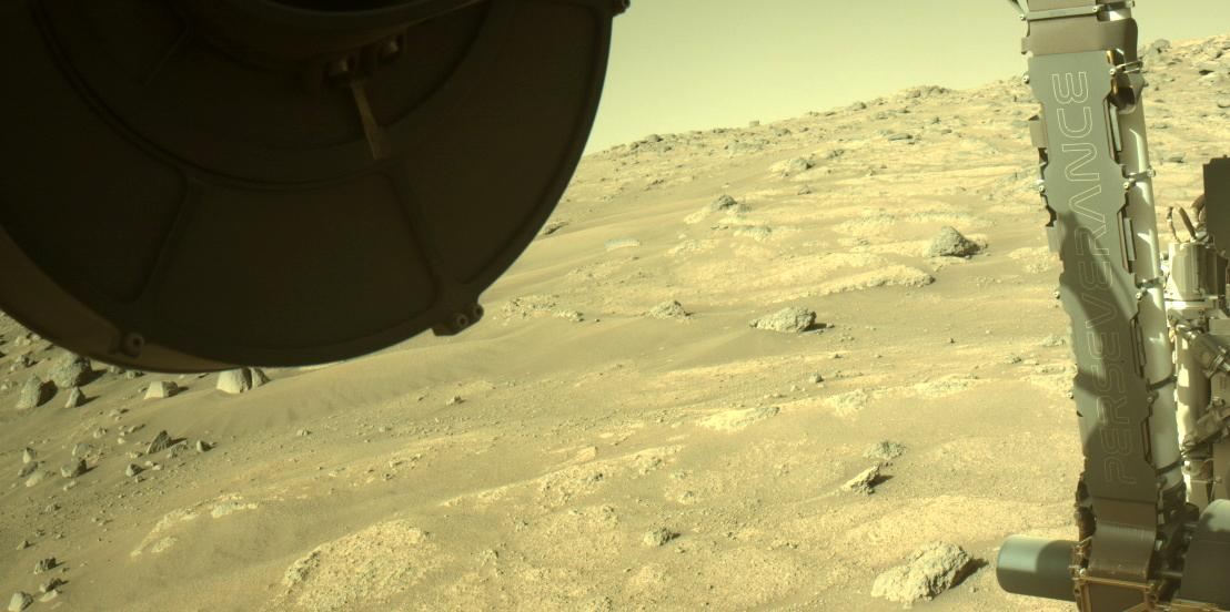 This image was taken by FRONT_HAZCAM_LEFT_A onboard NASA's Mars rover Perseverance on Sol 148