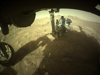 View image taken on Mars, Mars Perseverance Sol 148: Front Left Hazard Avoidance Camera (Hazcam)