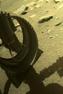 View image taken on Mars, Mars Perseverance Sol 190: Front Left Hazard Avoidance Camera (Hazcam)
