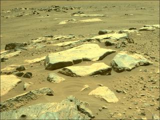 View image taken on Mars, Mars Perseverance Sol 190: Front Right Hazard Avoidance Camera (Hazcam)