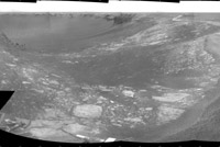 This image shows Opportunity's view forty meters from entry to Victoria Crater