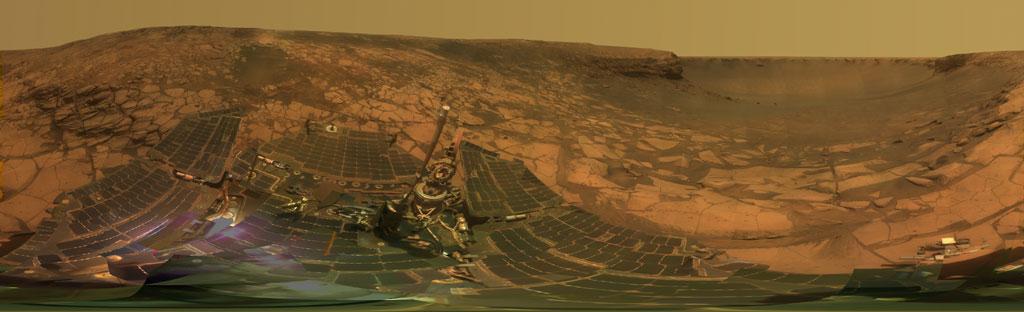 Le panorama Lyell photographié par le robot Opportunity