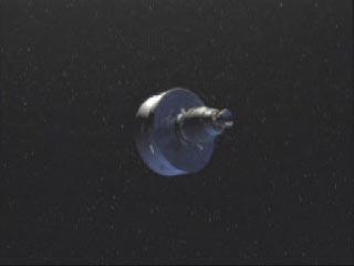 Le combustible solide du troisième étage est épuisé, la sonde est en route vers Mars ! Cependant, tout n'est pas fini, le tournoiement initié postérieurement doit être annulé et le toisième étage détaché.