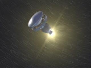 Ignition finale ! Lorsque le vaisseau est sur une bonne orbite, le troisième étage est mis à feu pour la propulsion ultime qui a pour but de délivrer la sonde du champ gravitationnel de la Terre auquel elle est encore soumise. Le tournoiement du troisième étage, initié quelques secondes avant va permettre de stabiliser l'ensemble et d'effectuer ainsi un pointage bien précis durant cette mise à feu.