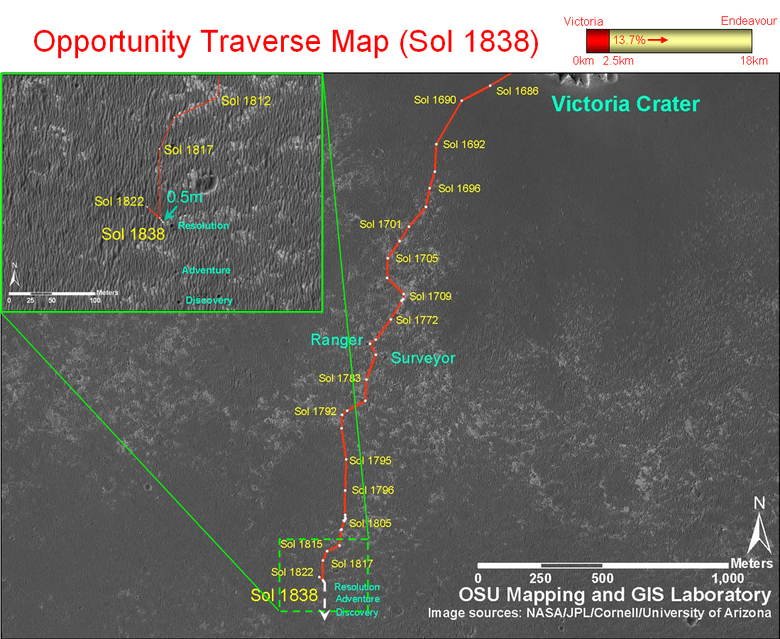 opportunity rover map - photo #16