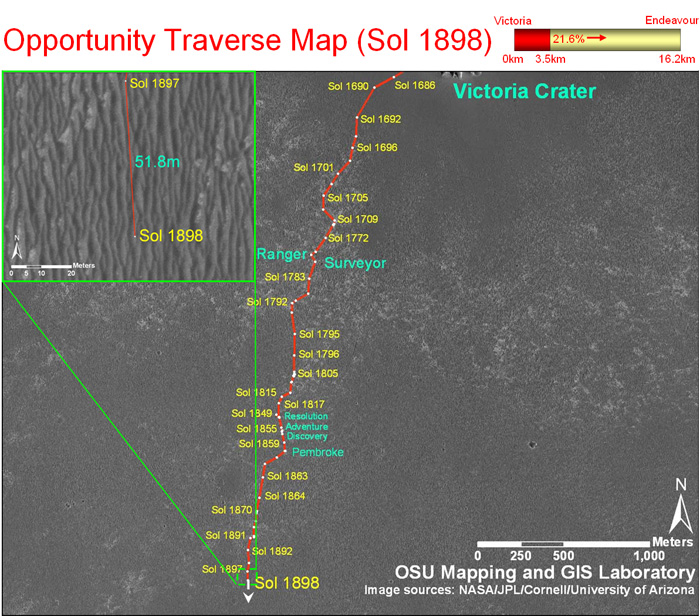 opportunity rover map - photo #21