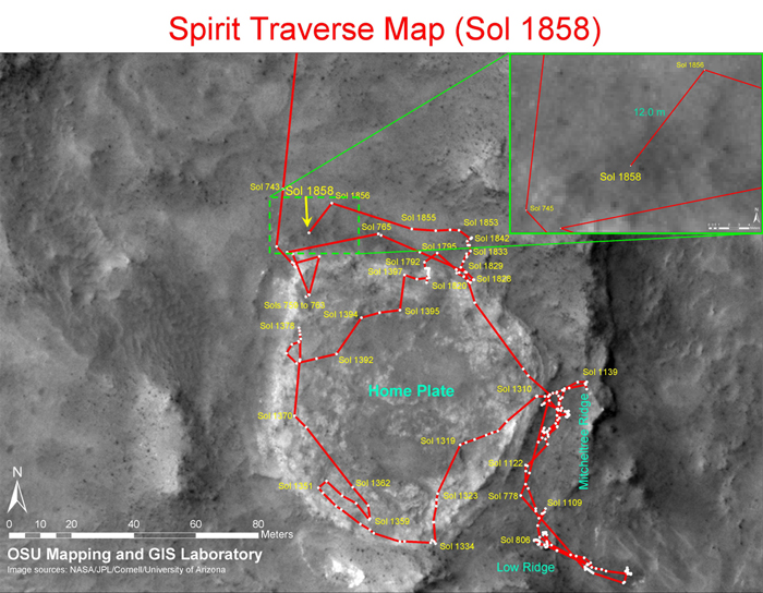 Map Of Arizona 1858.Mars Exploration Rover Mission The Mission