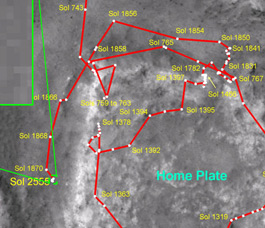 mars rover opportunity current location - photo #33