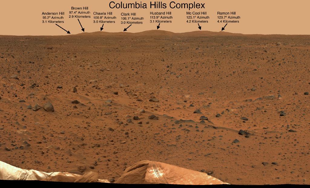 Đồi Columbia, nơi rô-bốt Spirit đang làm việc