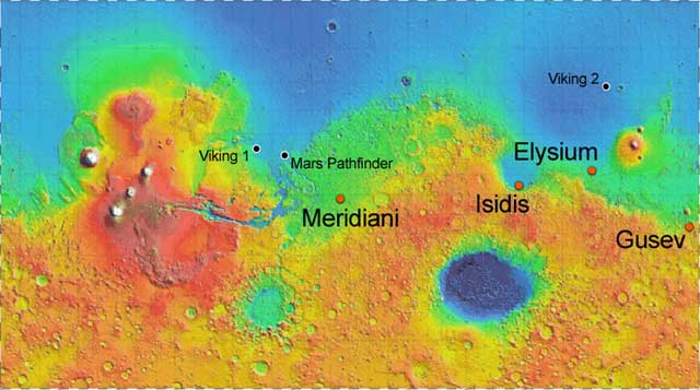 mars rover landing map - photo #19