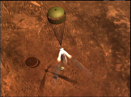 mars rover landing bouncing - photo #20