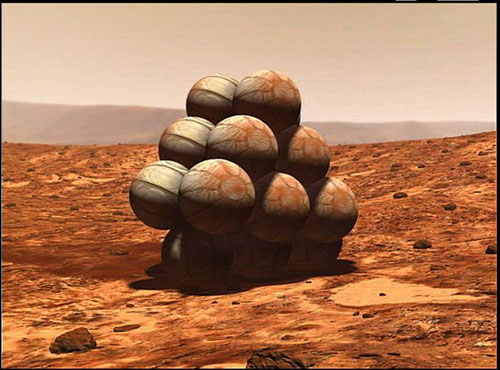 mars landing with balloons - photo #9