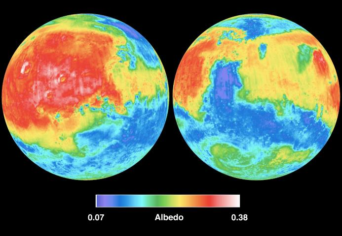 see infrared images of mars courtesy of the national aeronautics and space nasa also spelled infrared