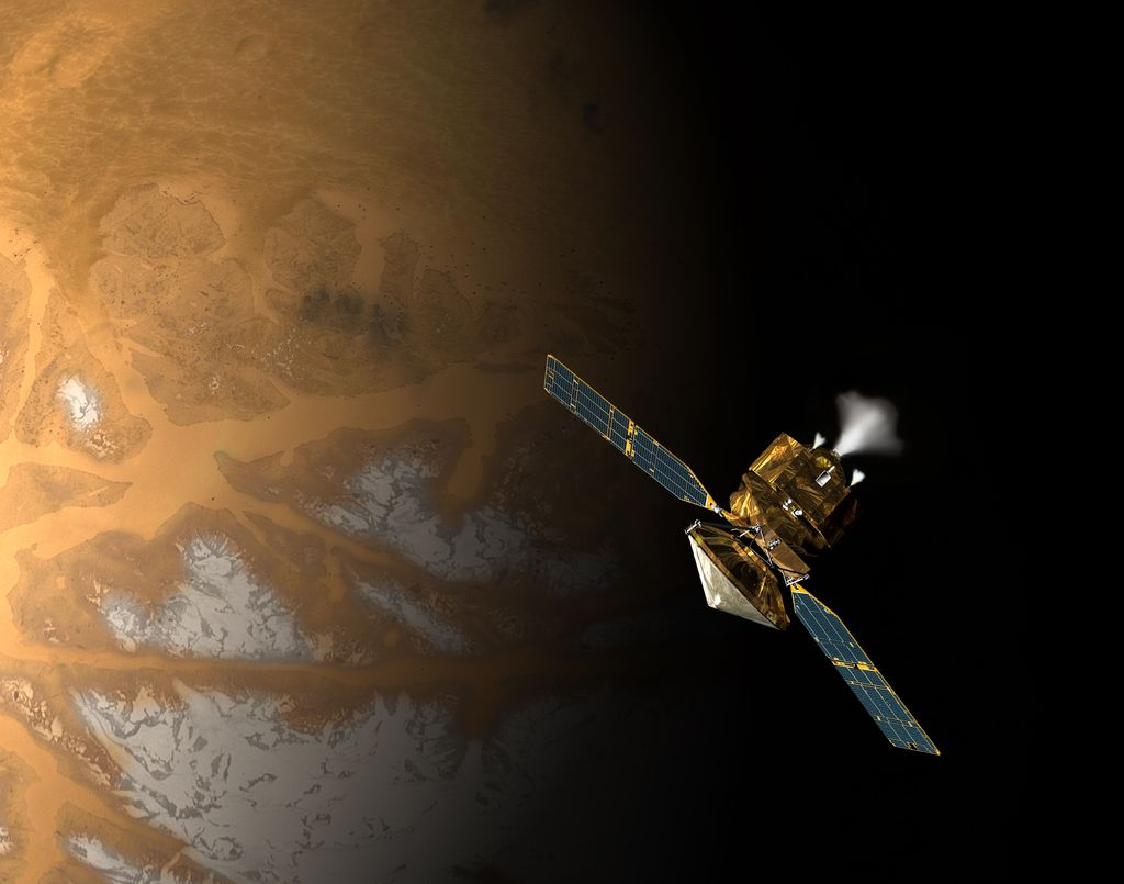 Artist's rendition of MRO at Mars