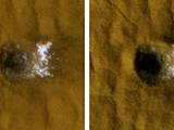 Twelve-Meter-Wide Crater Excavates Ice on Mars