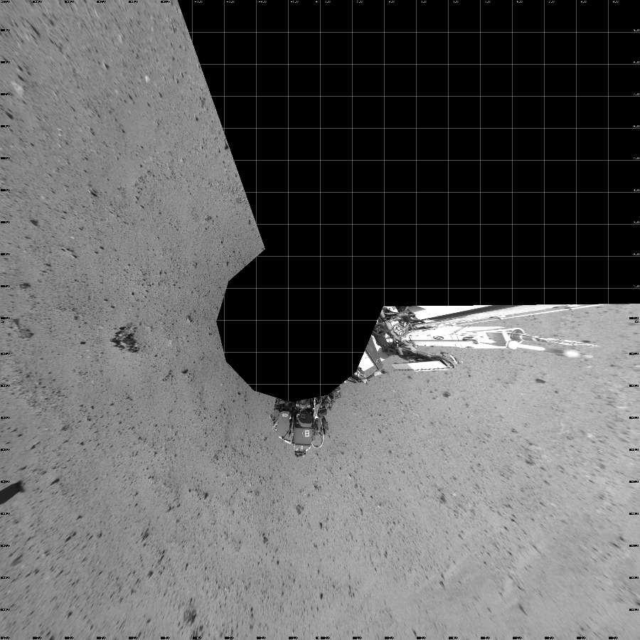 This Vertical Projection image was acquired by NASA's Mars rover Curiosity on Sol 344, at drive 0, site number 10.