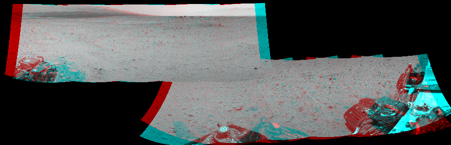 This 3D Mosaics image was acquired by NASA's Mars rover Curiosity on Sol 345, at drive 288, site number 10.