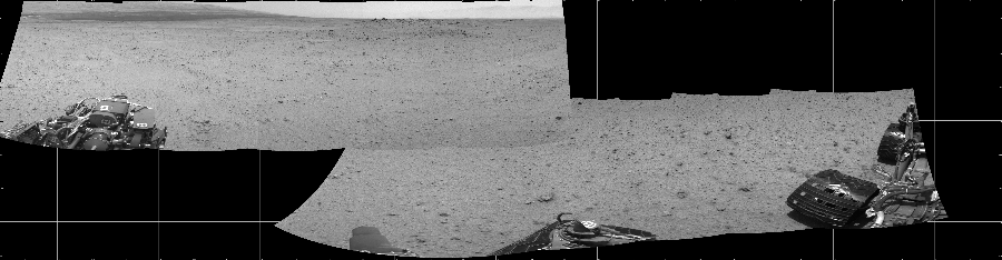 This Cylindrical image was acquired by NASA's Mars rover Curiosity on Sol 345, at drive 288, site number 10.