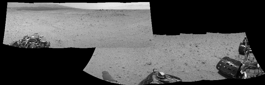 This Cylindrical Perspective image was acquired by NASA's Mars rover Curiosity on Sol 345, at drive 288, site number 10.