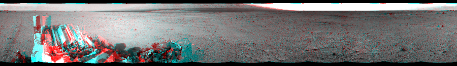 This Cylindrical Perspective image was acquired by NASA's Mars rover Curiosity on Sol 349, at drive 0, site number 11.