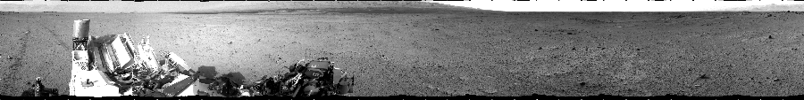 This Cylindrical image was acquired by NASA's Mars rover Curiosity on Sol 349, at drive 0, site number 11.
