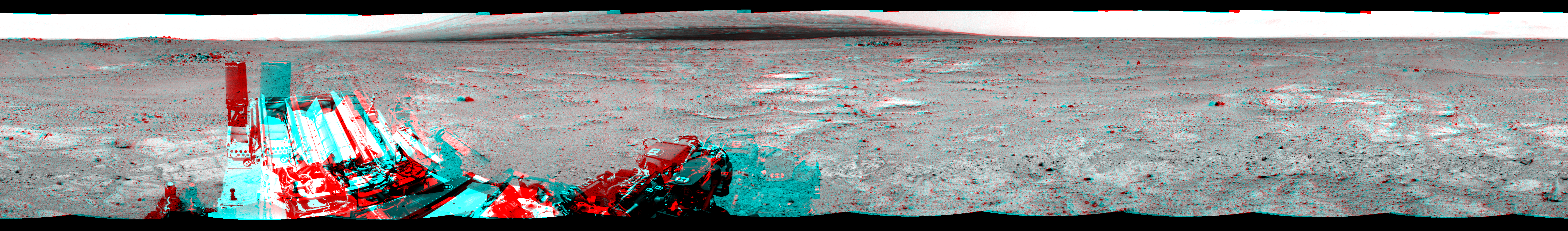 This 3D Mosaics image was acquired by NASA's Mars rover Curiosity on Sol 351, at drive 302, site number 11.